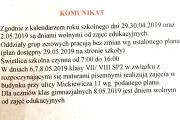 Komunikat 26 04 2019