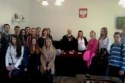 Uczniowie klas pedagogiczno -prawnych z wizytą w Inowrocławskim Sądzie.